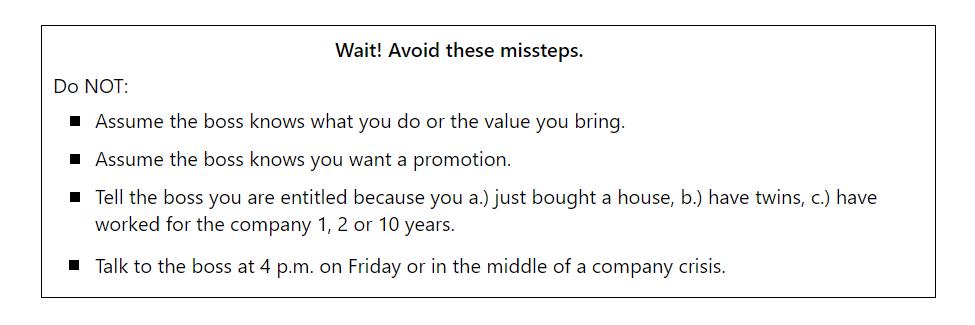 List of missteps
